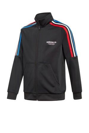 unisex Adicolor vest zwart/rood/blauw