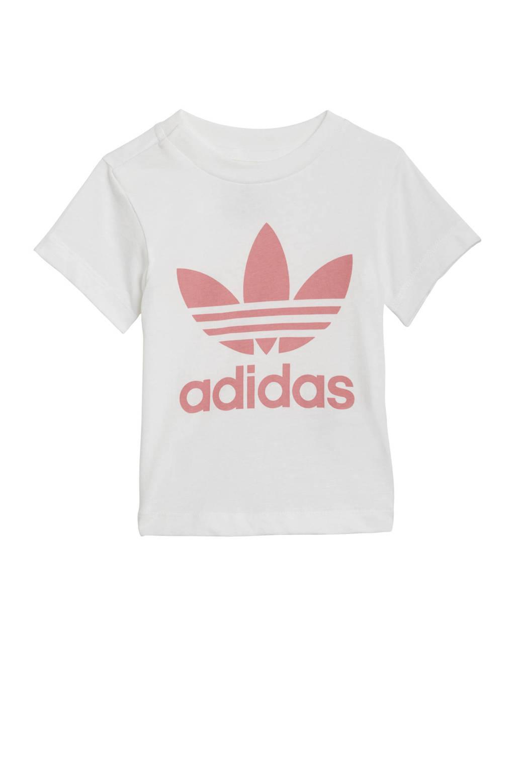 adidas Originals Adicolor T-shirt wit/lichtroze, Wit/lichtroze