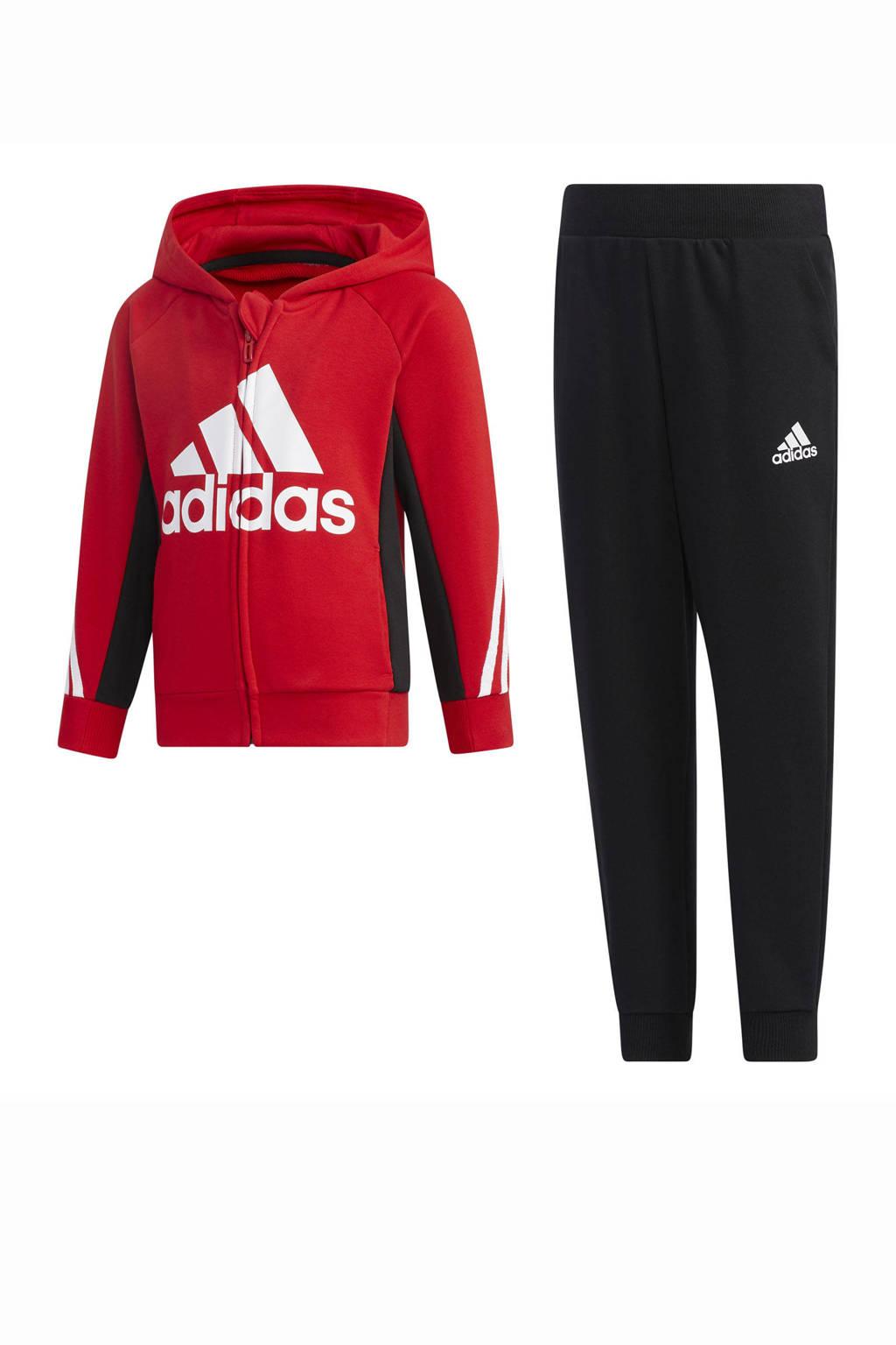 adidas Performance   trainingspak rood/zwart, Rood/zwart