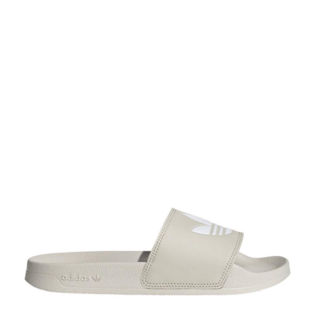 adidas Originals Adilette Lite slippers beige/wit, Beige/wit