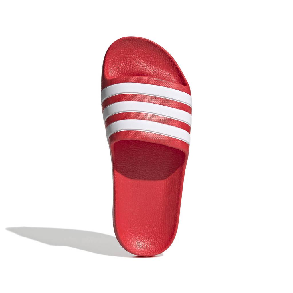 adidas Performance Adilette Aqua  badslippers rood/wit, Rood/wit