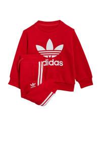 adidas Originals   Adicolor trainingspak rood/wit, Rood/wit