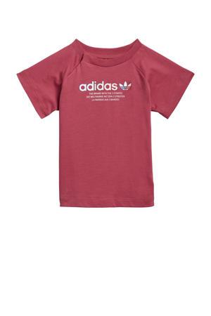 Adicolor T-shirt donkerroze