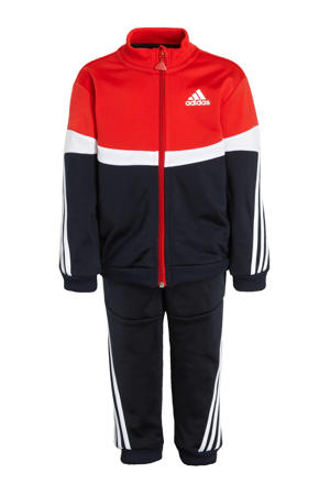 trainingspak rood/wit/donkerblauw