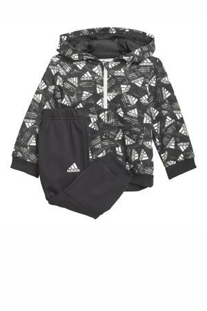 joggingpak zwart/wit