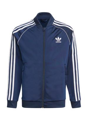 unisex Superstar Adicolor vest donkerblauw/wit