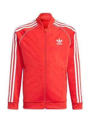 unisex Superstar Adicolor vest rood/wit
