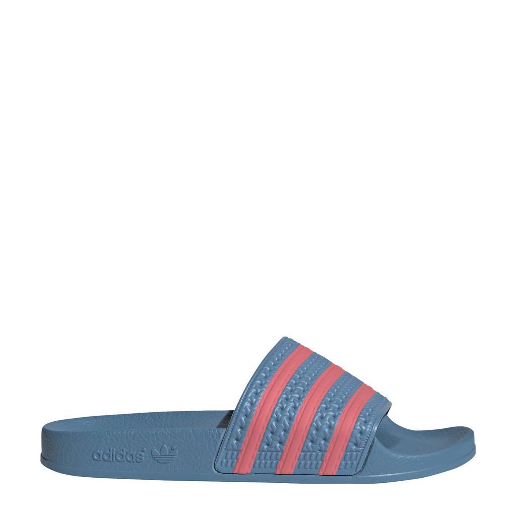 adidas Originals Adilette  badslippers blauw/roze, Blauw/roze