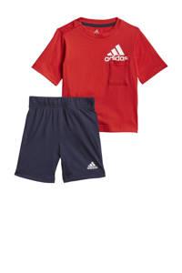 adidas Performance   sportset rood/wit/donkerblauw, Rood/wit/donkerblauw