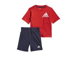 sportset rood/wit/donkerblauw