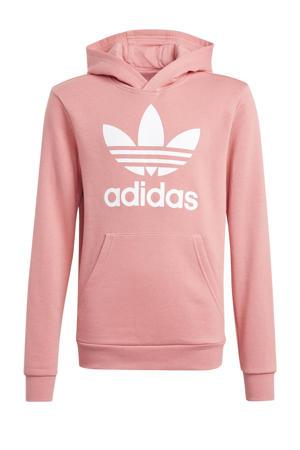Adicolor hoodie lichtroze/wit