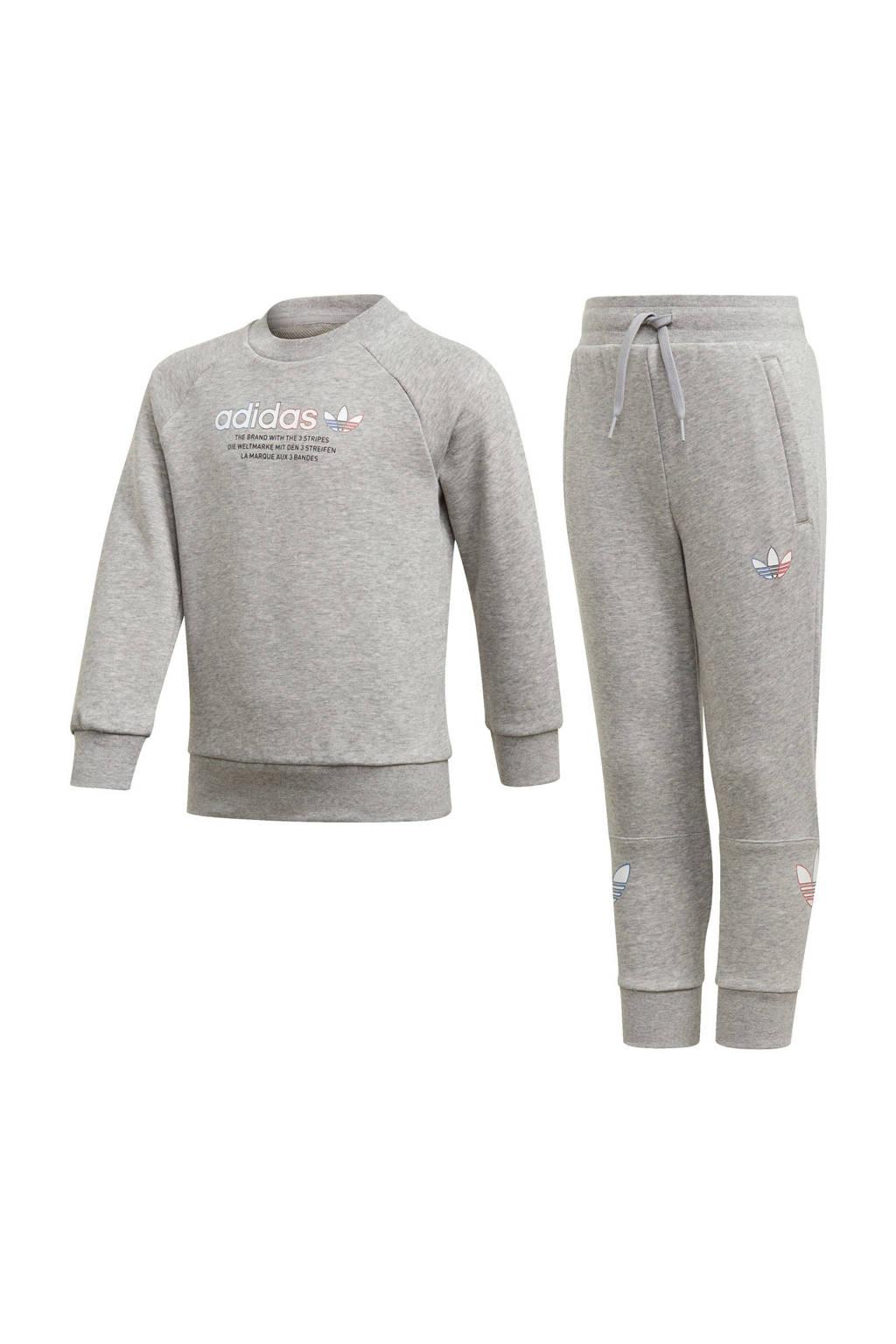 adidas Originals   Adicolor trainingspak grijs melange, Grijs melange
