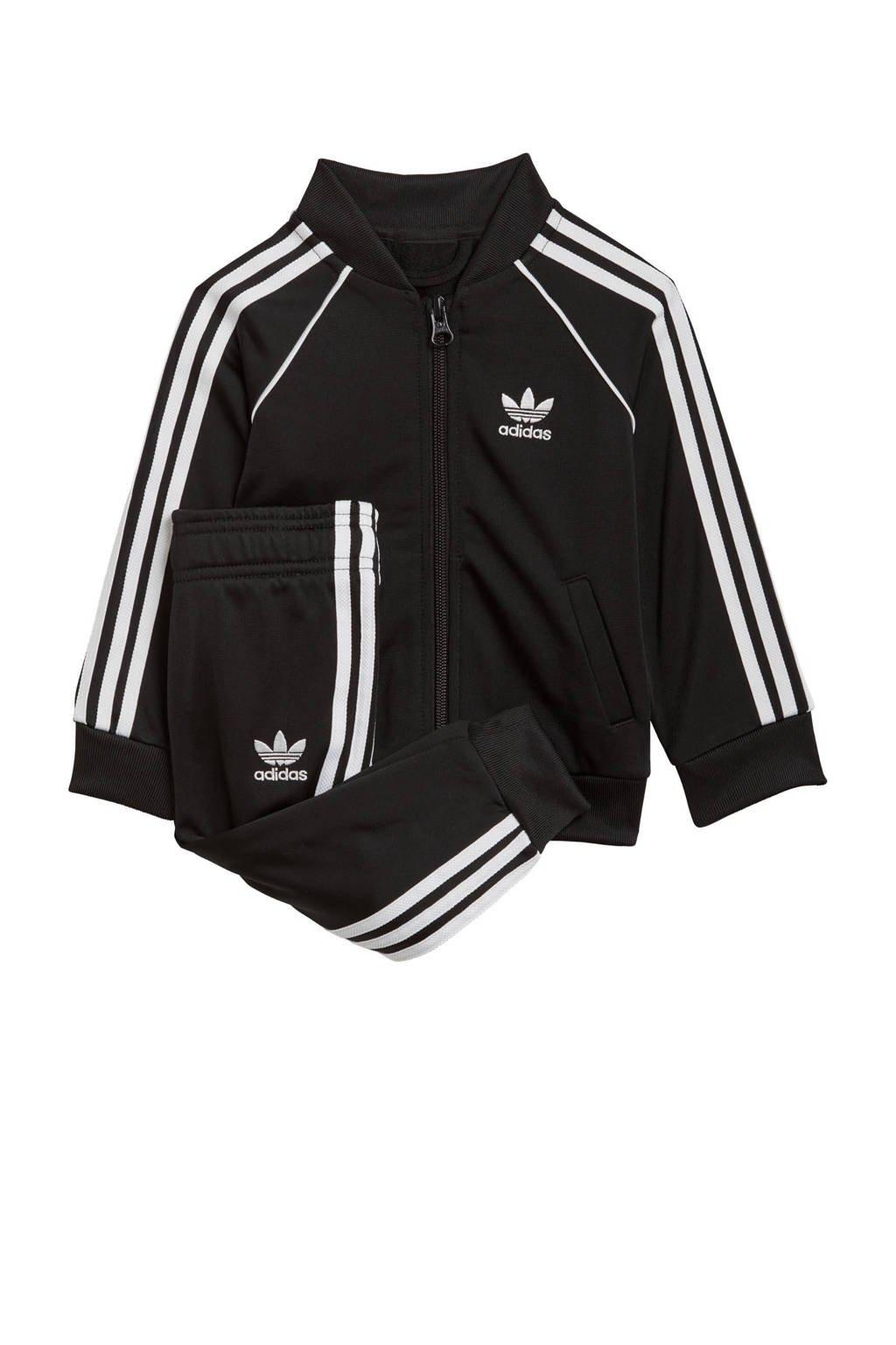 adidas Originals   Superstar Adicolor baby trainingspak zwart/wit, Zwart/wit