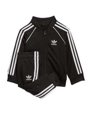 Superstar Adicolor baby trainingspak zwart/wit