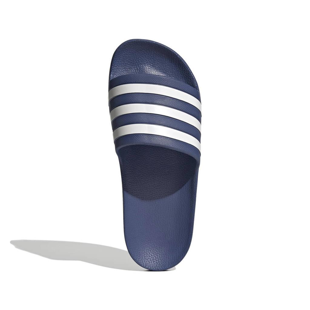 adidas Performance Adilette Aqua  badslippers donkerblauw/wit, Donkerblauw/wit