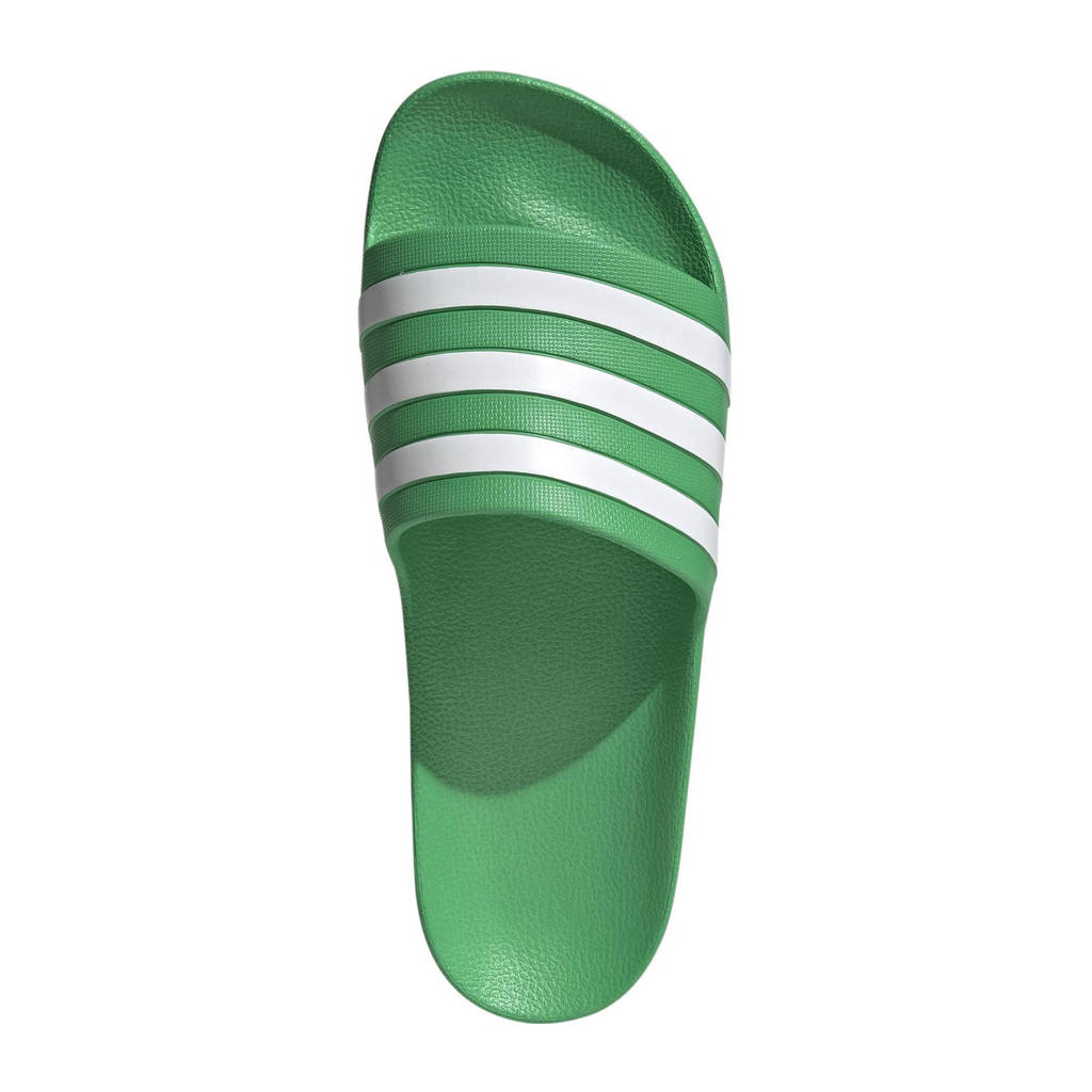 adidas Performance Adilette Aqua badslippers groen/wit, Groen/wit