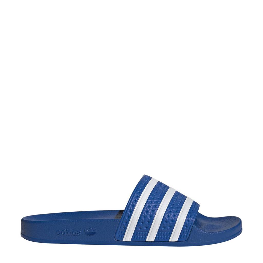 adidas Originals Adilette Aqua badslippers blauw/wit, Blauw/wit