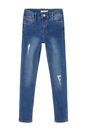 skinny jeans medium blue denim