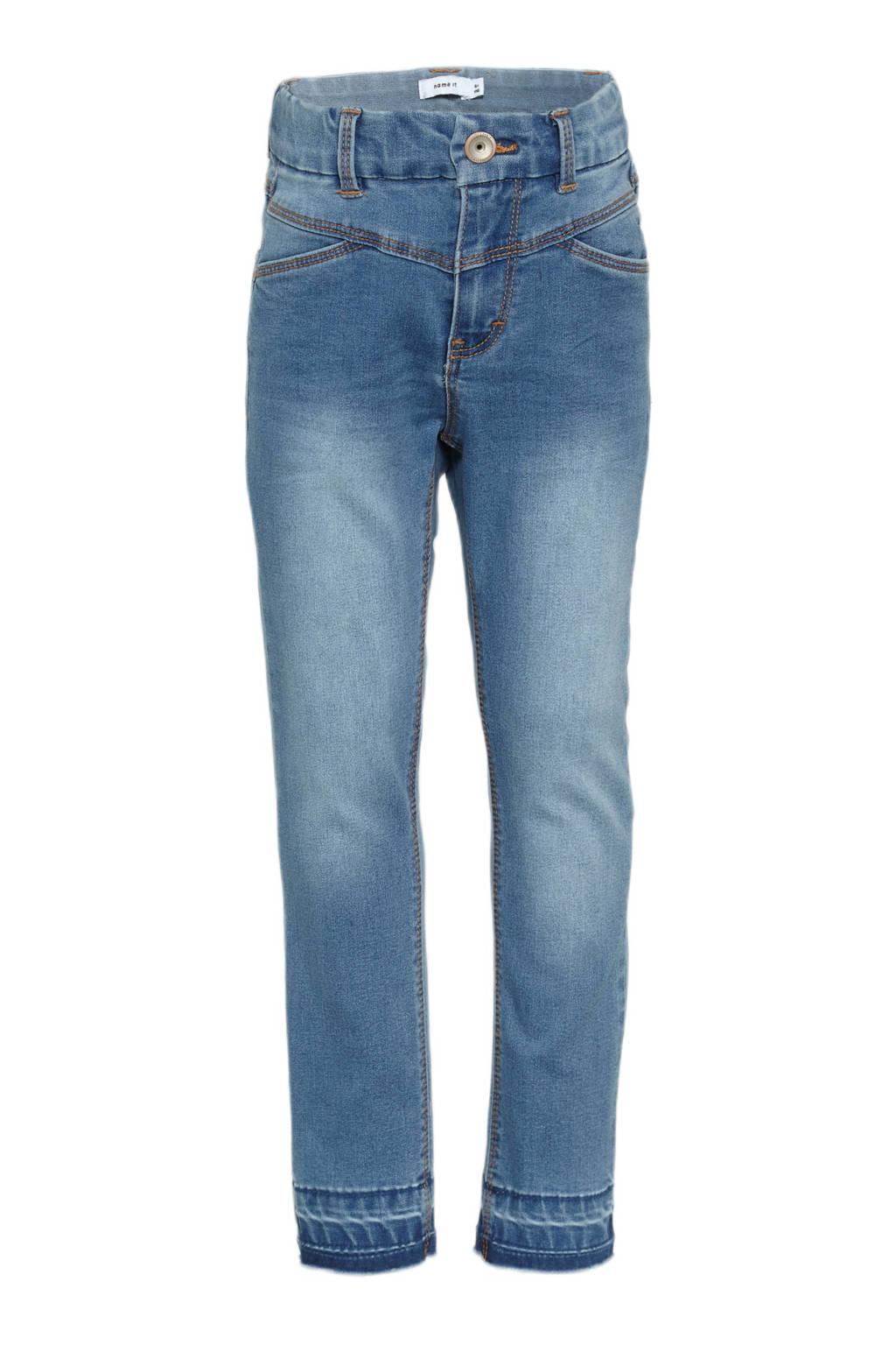NAME IT KIDS slim fit jeans NKFSALLI lichtblauw, Lichtblauw