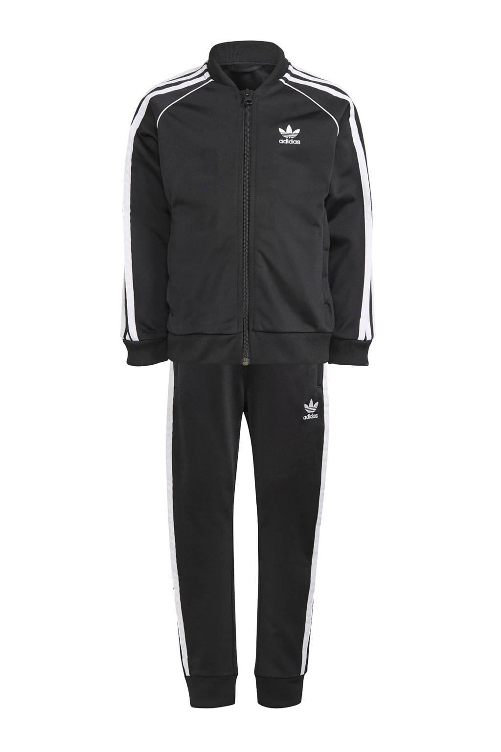 adidas Originals   Superstar Adicolor trainingspak zwart/wit, Zwart/wit
