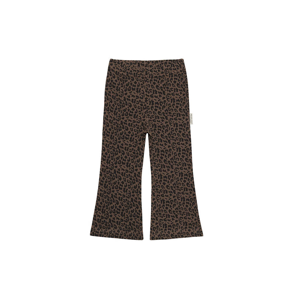 Little Indians flared broek Flared Pants Leopard met dierenprint bruinzwart, Bruinzwart