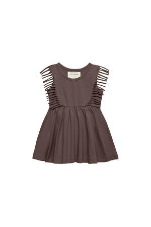 jurk Boho Jurk met franjes bruin