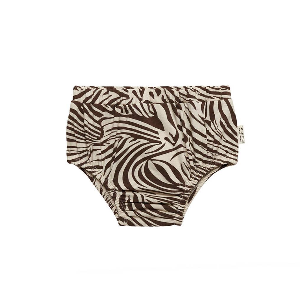 Little Indians kort broekje zebraprint bruin/beige, Bruin/beige
