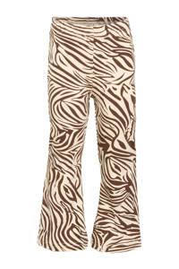 Little Indians flared broek Flared Pants Zebra met zebraprint bruin/wit, Bruin/wit