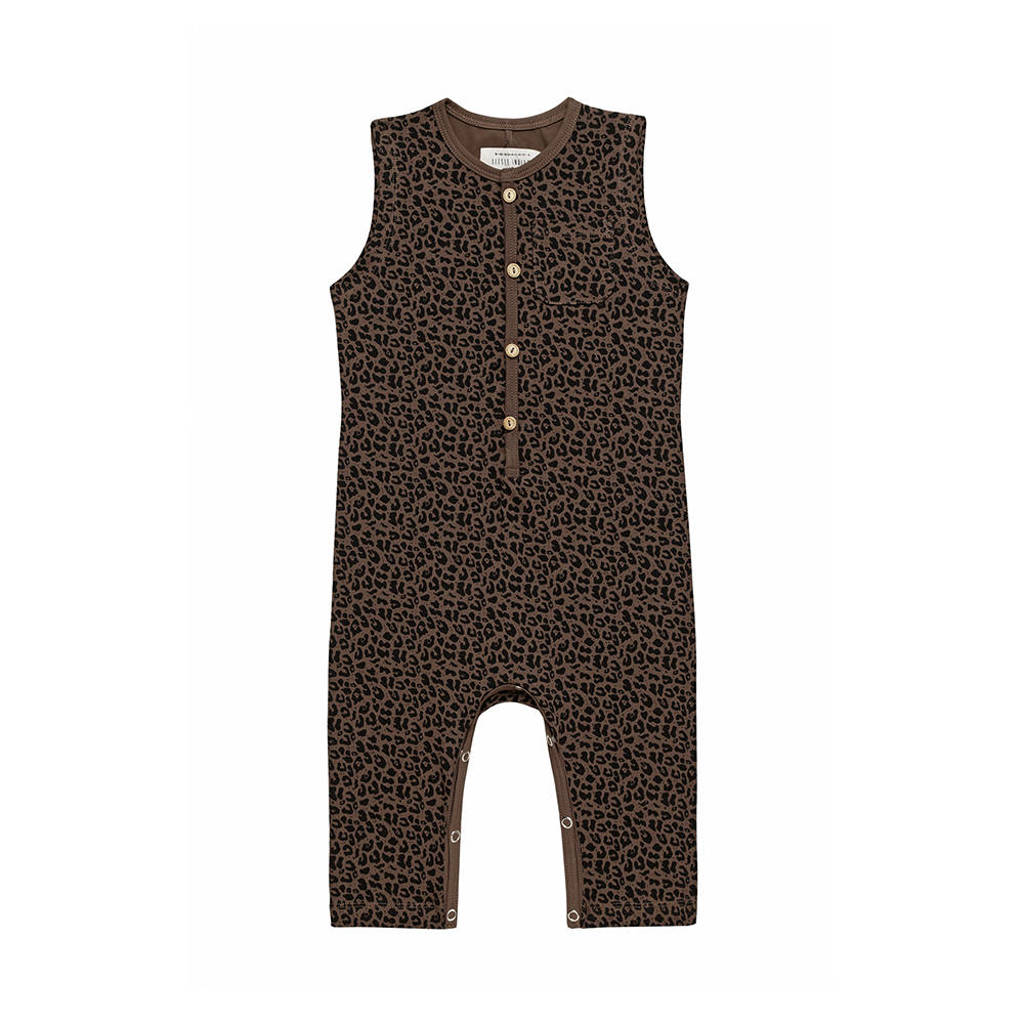 Little Indians baby boxpak Jumpsuit Leopard met dierenprint bruin/zwart, Bruin/zwart