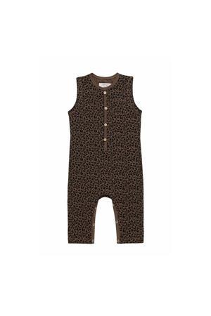 baby boxpak Jumpsuit Leopard met dierenprint bruin/zwart