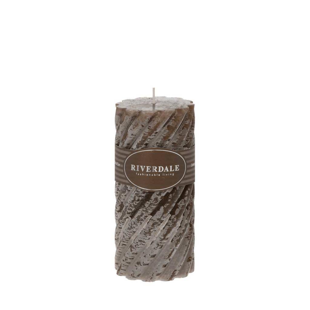 Riverdale geurkaars Swirl White Chocolate - mokka 7.5x15cm