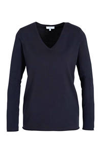 Yest fijngebreide trui Yola donkerblauw, Donkerblauw