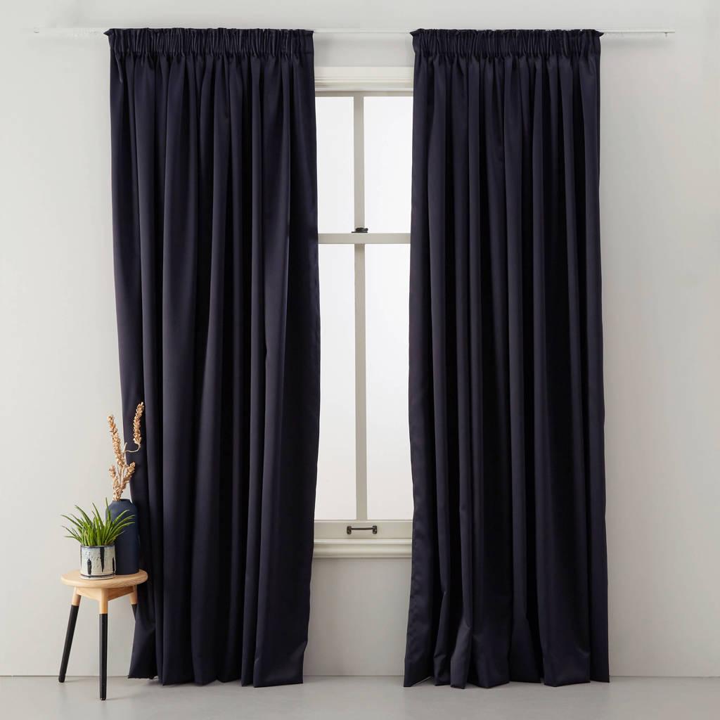 Wehkamp Home verduisterend gordijn kant en klaar verduisterend gordijn (per stuk) (280 x 270 cm), Zwart