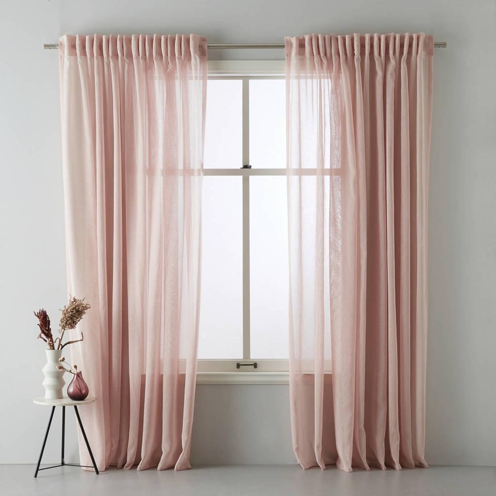 wehkamp home transparant gordijn (per stuk) (300x315 cm), Roze