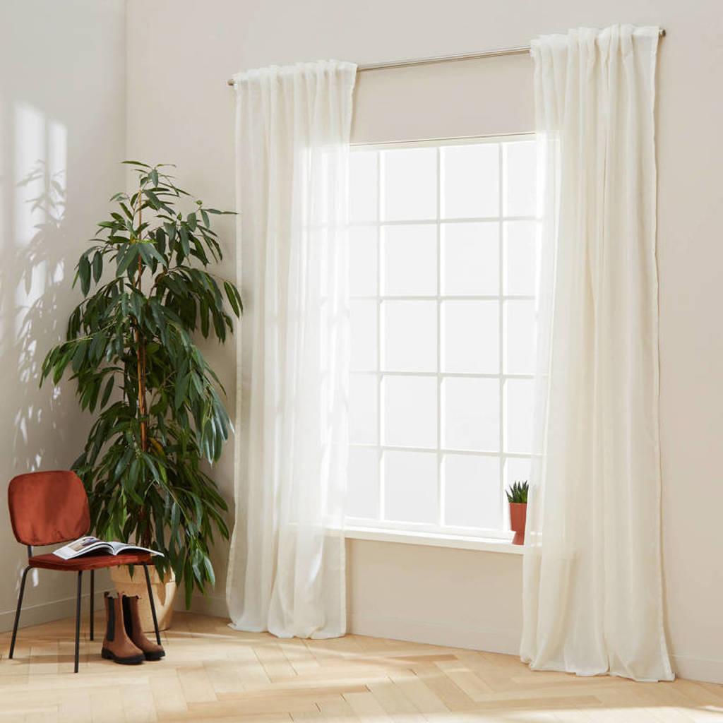 Wehkamp Home vitrage kant en klaar transparant gordijn (per stuk) (150 x 290 cm), Off-White
