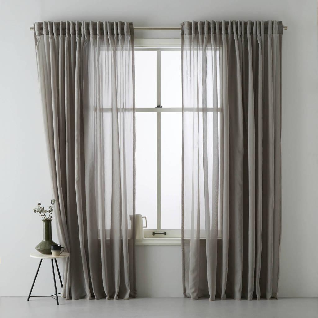wehkamp home transparant gordijn (per stuk) (150x290 cm), Grijs