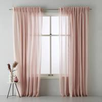 wehkamp home transparant gordijn (per stuk) (150x315 cm), Roze