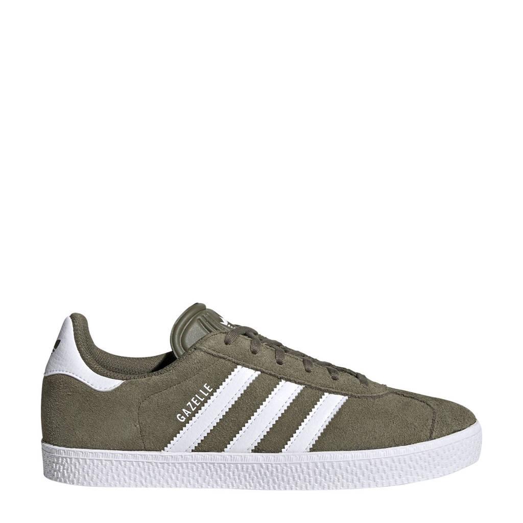 adidas Originals Gazelle  sneakers kaki/wit