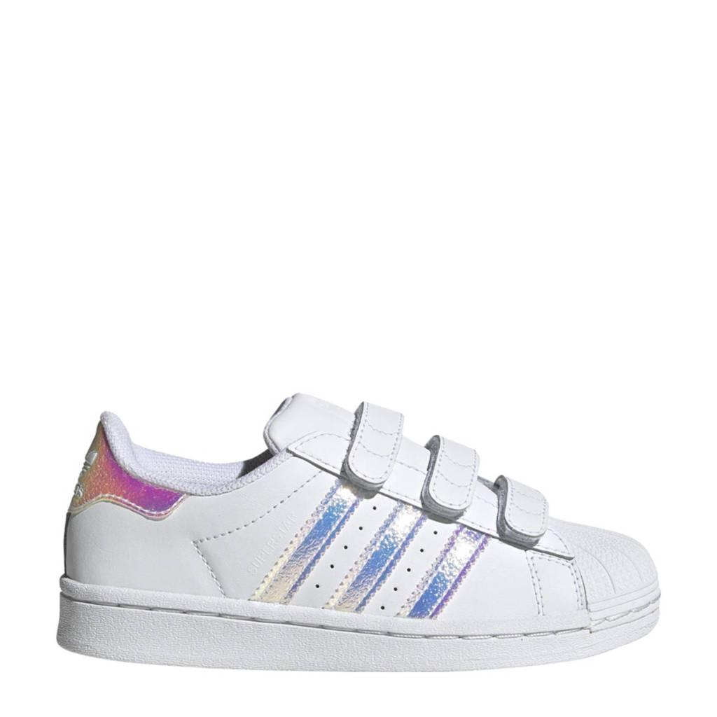 adidas Originals Superstar  leren sneakers wit, Wit/zilver metallic