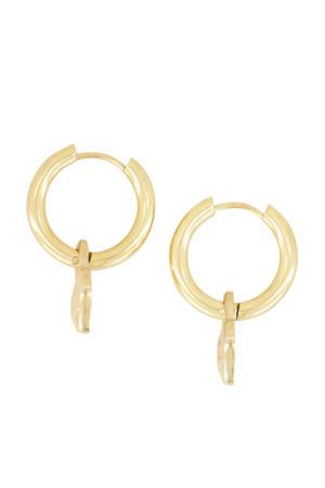oorbellen met hangertje MJ04134 goudkleurig