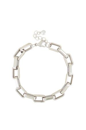 schakelarmband MJ03971 zilverkleurig