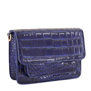 crossbody tas met crococprint MJ03457 donkerblauw
