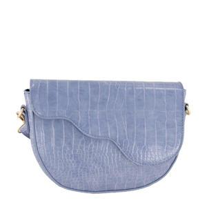 schoudertas met crocoprint MJ03595 lichtblauw
