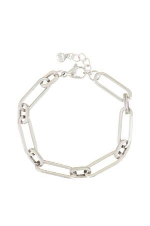 schakelarmband MJ03969 zilverkleurig