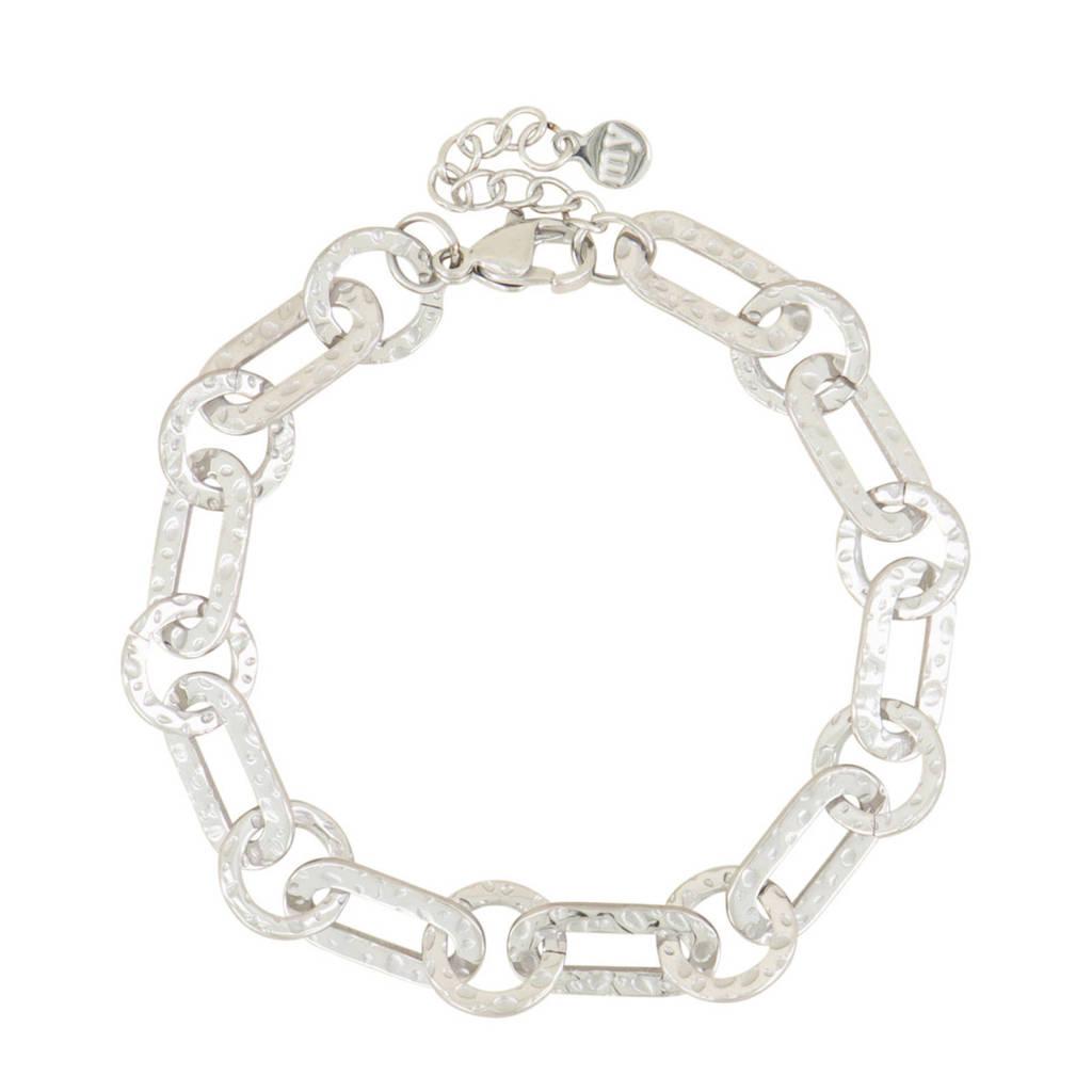 My Jewellery schakelarmband MJ03973 zilverkleurig, Zilverkleurig