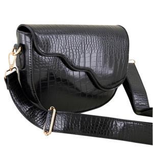 schoudertas met crocoprint MJ03595 zwart