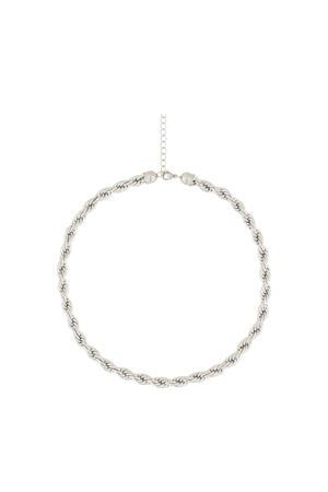 ketting met gedraaide schakels MJ01744 zilverkleurig