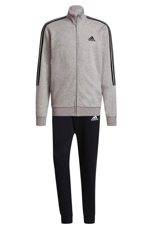 adidas Performance   trainingspak grijs melange/zwart/wit, Grijs melange/zwart/wit