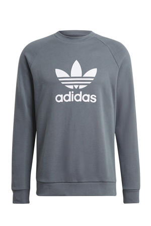 Adicolor sweater grijsblauw