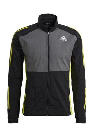 Own The Run hardloop jack zwart/grijs/geel